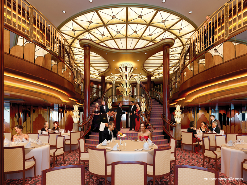 It was designed to evoke memories of classic ocean liners via its art deco ...